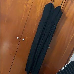 Black spaghetti strap romper